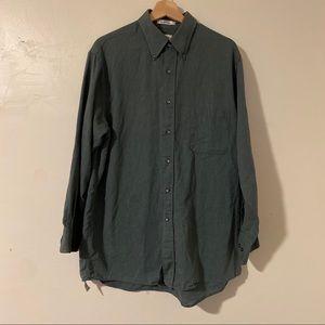Van Heusen Oxford Button Down Green Size 16.5